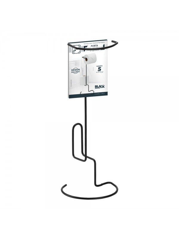 Porta Papel Higiênico c/ Dispenser Black - Arthi