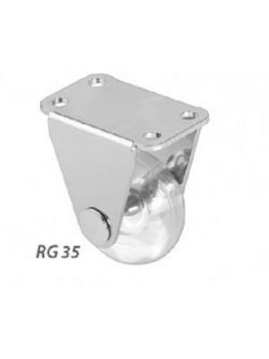 Rodízio Gel Incolor 35 MM base fixa