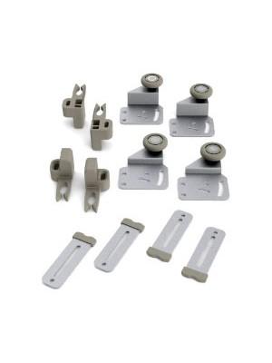 Sistema deslizante ROS 55 para portas de 15mm - 28mm Kit para 2 portas