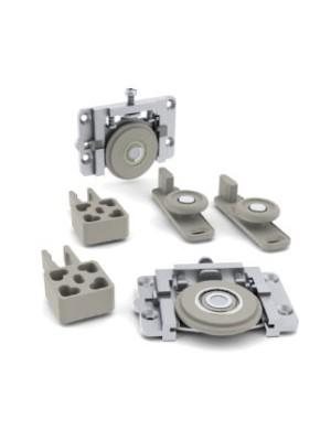 Sistema deslizante RO 65 Plus para portas de 15mm Kit