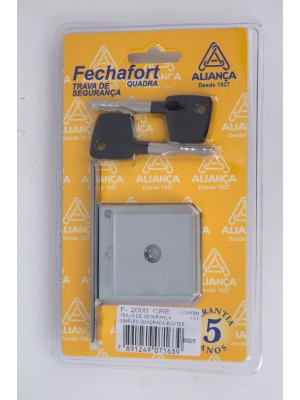 KIT 08 - Fechadura Externa Quadratta CR (55mm) + Fechadura Tetra F2000 Quadrada CR