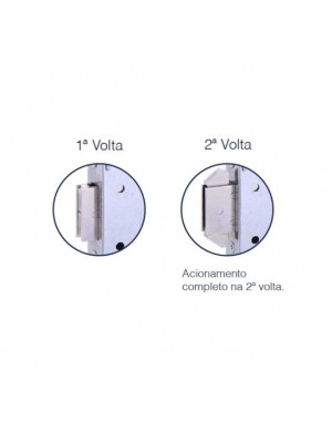 Fechadura Banheiro Bico Duplo Broca 45mm Inox Polido