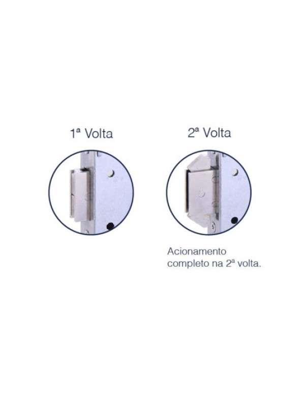 Fechadura Externa Bico Duplo Broca 45mm Inox Polido