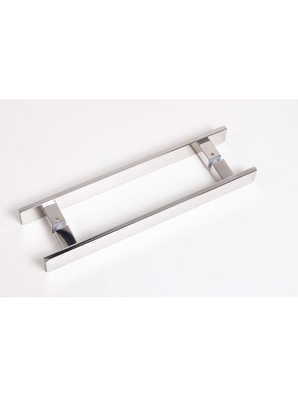 KIT 02 - Fecho Rolete Inox para Porta de Passagem  + Puxador Colibri Duplo 30/40cm - Bela